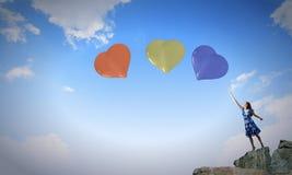 dzień serc ilustracja odizolowywał miłości romansowego s valentine biel Zdjęcia Royalty Free