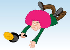 dzień spadać naleśnikowy biegowy biegacz ilustracji