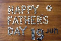 dzień szczęśliwego ojcze Obraz Royalty Free