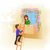 dzień szczęśliwego s ilustracji zwrócić walentynki Zdjęcia Stock