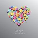 dzień szczęśliwego s ilustracji zwrócić walentynki Kartka z pozdrowieniami z sercem w Wektorowym formacie Obrazy Royalty Free
