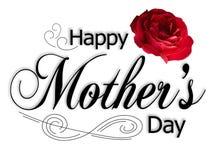 dzień szczęśliwy matki s typ Obraz Royalty Free