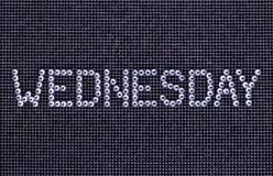 Dzień tygodnia, słowo ŚRODA zrobi rhinestones kryształu colo Obraz Royalty Free