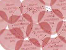 dzień valentine życzenie Obrazy Stock