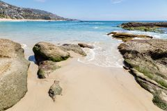 Dzień w laguna beach, Kalifornia fotografia stock