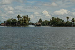 Dzień w stojących wodach Kerala Obrazy Royalty Free
