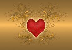 dzień złota valentines Zdjęcie Royalty Free