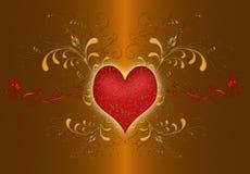 dzień złota valentines Zdjęcie Stock