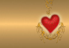 dzień złota valentines Zdjęcia Stock