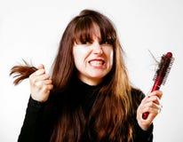 dzień zły włosy Fotografia Royalty Free