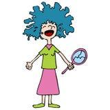 dzień zły włosy Obrazy Royalty Free