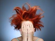 dzień zły włosy Zdjęcia Royalty Free