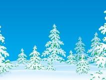 dzień zakrywający śnieg lasowy mroźny royalty ilustracja