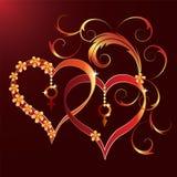 dzień deseniowy s st valentine Zdjęcia Stock