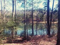 Dzień dobry jezioro Fotografia Royalty Free