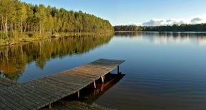 dzień dobry lake Zdjęcie Royalty Free