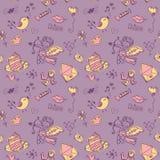 dzień doodle s bezszwowy tekstury valentine Zdjęcia Stock