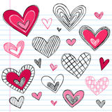 dzień doodles serc miłości s valentine Obraz Stock