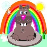dzień groundhog ilustracja wektor