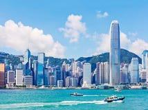 dzień Hong kong linia horyzontu Zdjęcie Royalty Free