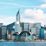 dzień Hong kong linia horyzontu Fotografia Stock