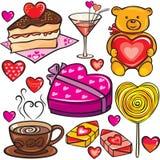 dzień ikony s ustalony valentine Zdjęcia Royalty Free