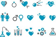 dzień ikony s ustalony valentine Obraz Royalty Free