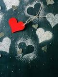 dzień karciany valentine s Rewolucjonistki papierowy serce na arkanie Obraz Stock