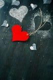 dzień karciany valentine s Rewolucjonistki papierowy serce na arkanie Zdjęcia Royalty Free