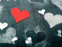 dzień karciany valentine s Rewolucjonistki papierowy serce na arkanie Obrazy Stock