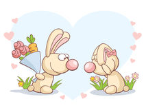 dzień królików s valentine Zdjęcie Royalty Free