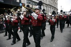 dzień London nowy parady s rok Obrazy Royalty Free
