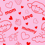 dzień matki wzór s bezszwowy Obrazy Royalty Free