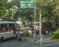 Dzień Miastowa scena Medellin Kolumbia Zdjęcie Stock