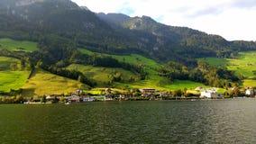Dzień na jeziornym lucerene fotografia royalty free