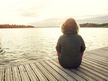 Dzień na jeziorze Zdjęcia Stock