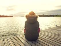 Dzień na jeziorze Fotografia Stock