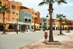 Dzień na nowej marina deptaka ulicie, Egypt, hurghada Obraz Royalty Free