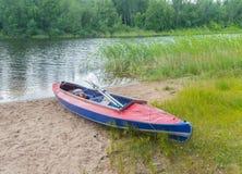Dzień na rzece jest kajakiem Fotografia Royalty Free