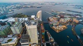 Dzie? nighttime up?yw Yokohama schronienie przy Minato Mirai okr?giem, Japonia zbiory wideo