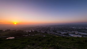 Dzień nocy panning timelapse nad Los Angeles zbiory