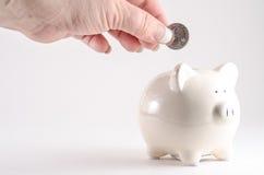 dzień pieniądze dżdżysty oszczędzanie Zdjęcia Stock