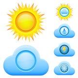 Dzień pogodowe ikony Zdjęcia Stock