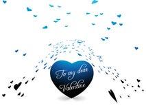 dzień serc romantyczny s valentine Obraz Royalty Free