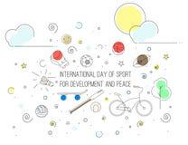 Dzień sport dla rozwoju Fotografia Royalty Free