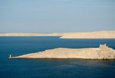 dzień wyspy latarnia morska pag rujnuje lato Obraz Stock