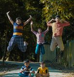 Dzieciństwa szczęście Bangladesz dziecko fotografia royalty free