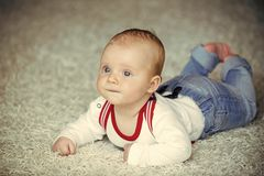 Dzieciństwo, niemowlęctwo, nowonarodzony zdjęcie stock