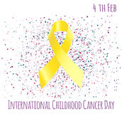 Dzieciństwo nowotworu dzień Obraz Stock