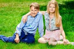 Dzieciństwo przyjaciele Zdjęcia Royalty Free